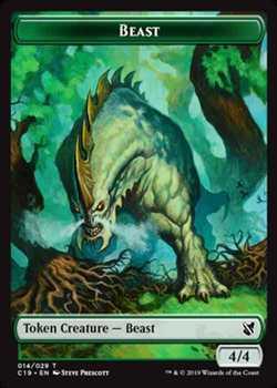 Beast Token - Green - 4/4