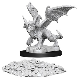 Dungeons and Dragons: Nolzur's Marvelous Unpainted Miniatures: Blue Dragon Wyrmling