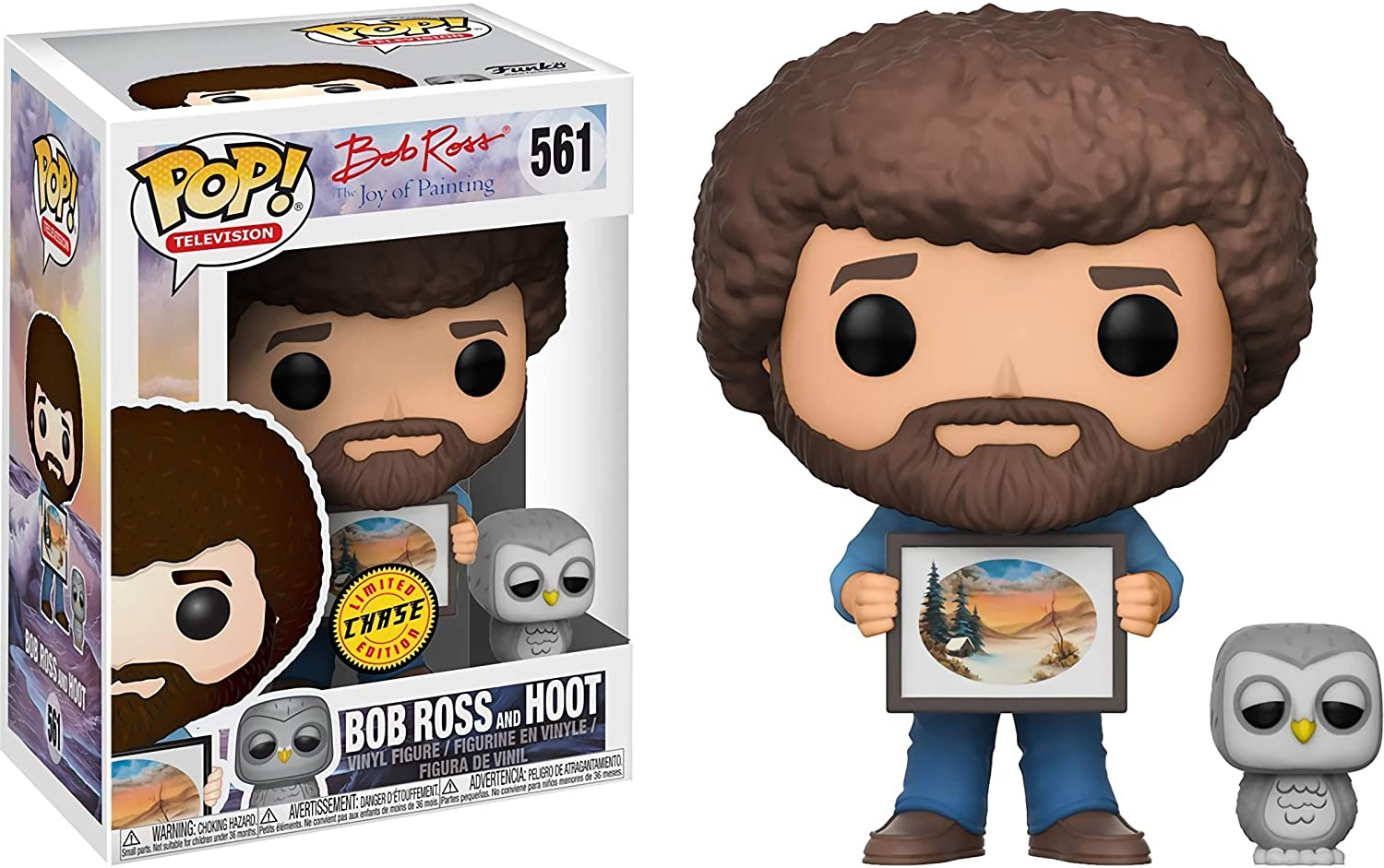 Funko POP: Television: The Joy of Painting: Bob Ross with Hoot Chase (561)