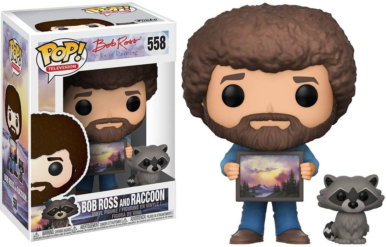 Funko POP: Television: The Joy of Painting: Bob Ross with Raccoon
