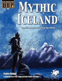 Basic Role Playing: Mythic Iceland (GenCon Pre-Publication Proof Edition) - Used