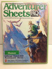 RuneQuest: Adventurer Sheets: Human - USED
