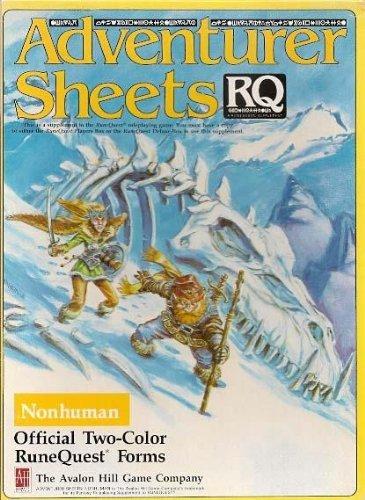 RuneQuest Adventurer Sheets: Nonhuman - USED