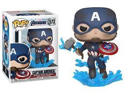 Funko POP: Marvel: Endgame: Captain America With Broken Shield and Mjolnir