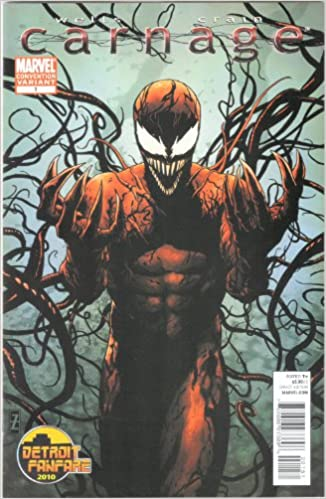 Carnage no. 1 (2010) Detroit Fanfare Variant Cover - Used