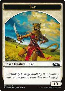 Cat Token with Lifelink - White - 1/1