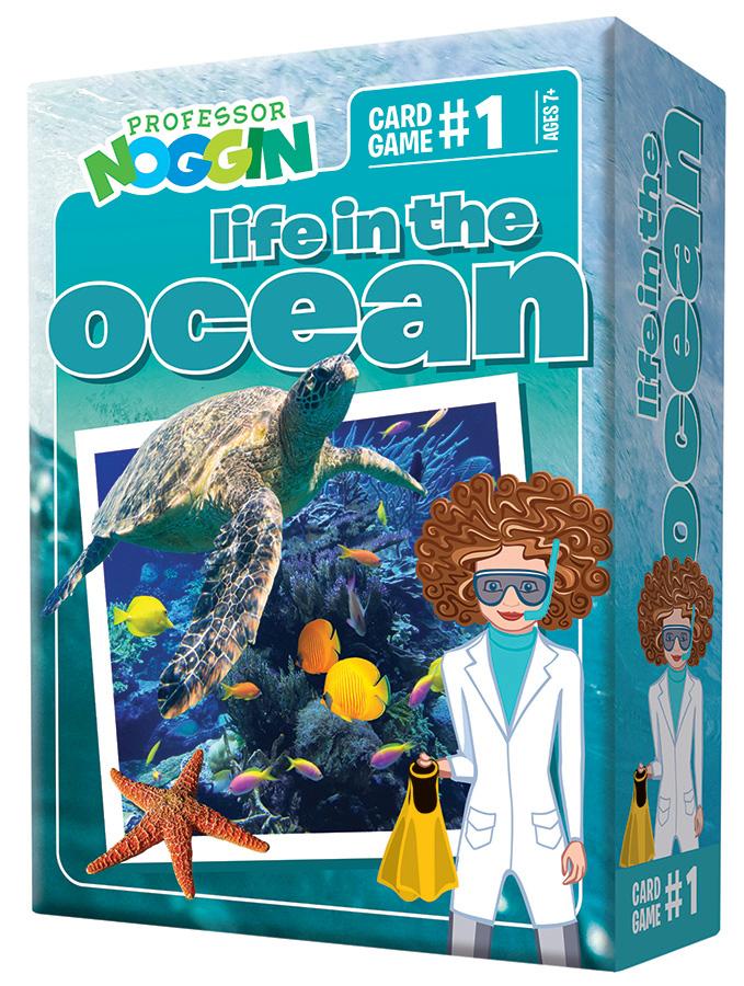 Professor Noggin Life in the Ocean Card Game