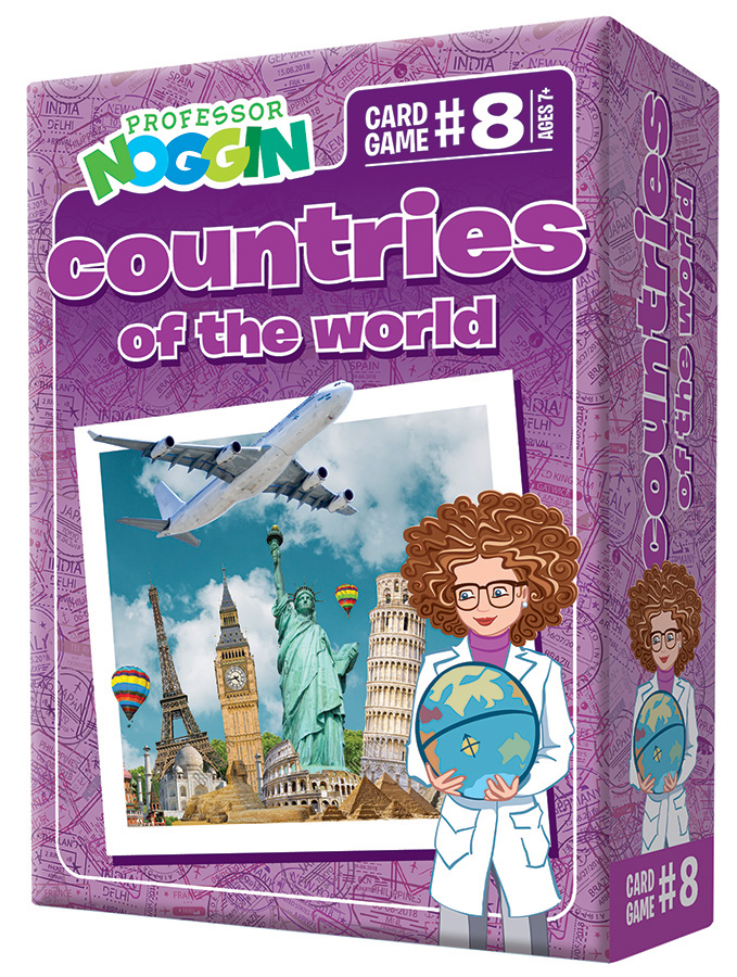 Professor Noggin Countries of the World Card Game