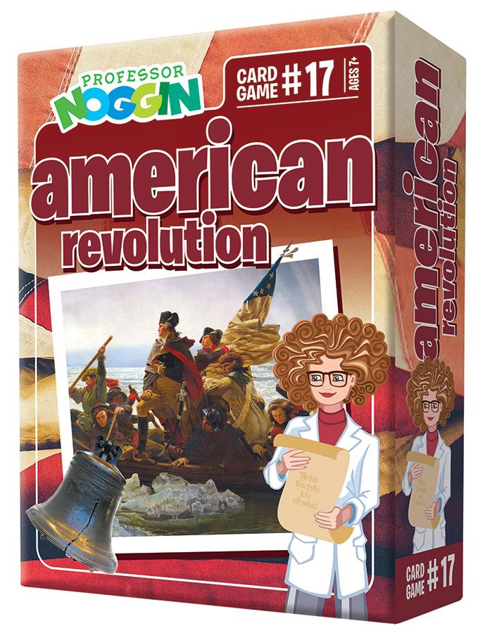Professor Noggin American Revolution Card Game