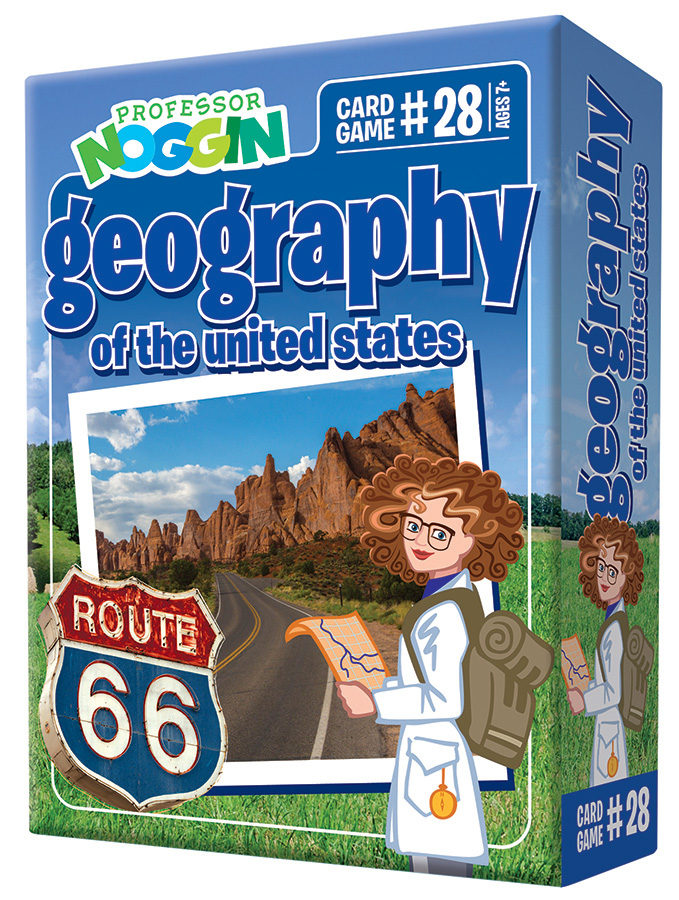 Professor Noggin Geography of the US Card Game