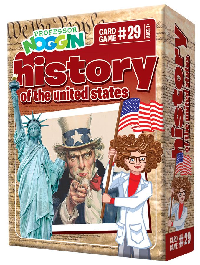 Professor Noggin History of the US Card Game