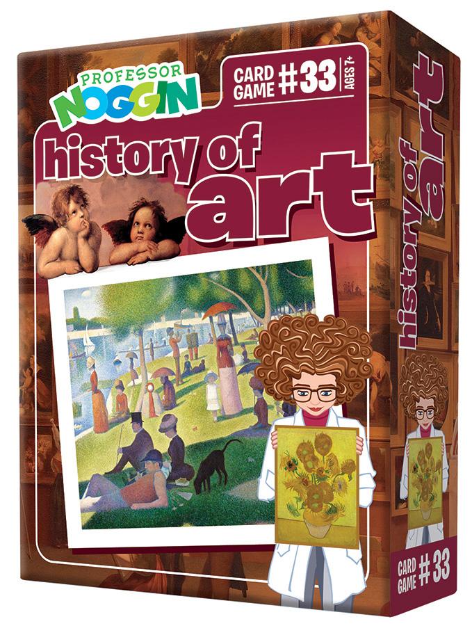 Professor Noggin History of Art Card Game