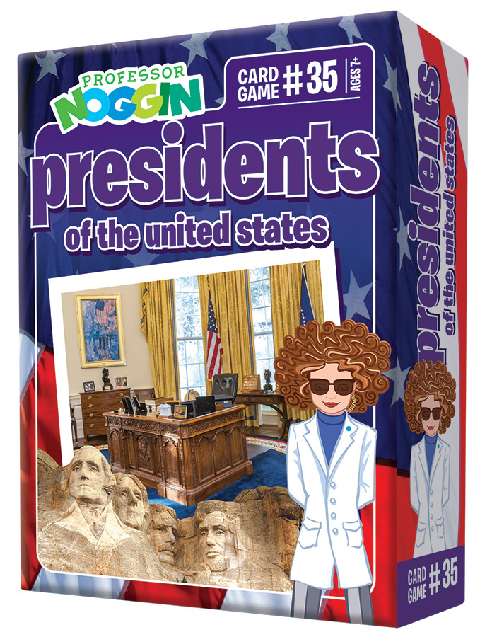 Professor Noggin Presidents of the US Card Game