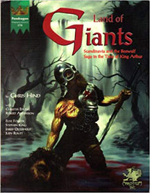 Pendragon Role Playing Adventure: Land of Giants - USED