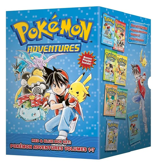Pokemon Adventures: Red and Blue Box Set: Volumes 1-7 (Current Printing)