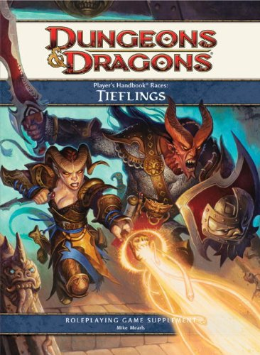 Dungeons and Dragons 4th ed: Players Handbook Races: Tieflings - Used