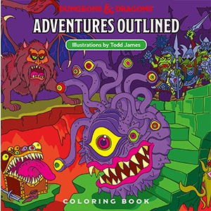 Dungeons and Dragons: Adventures Outlined Coloring Book