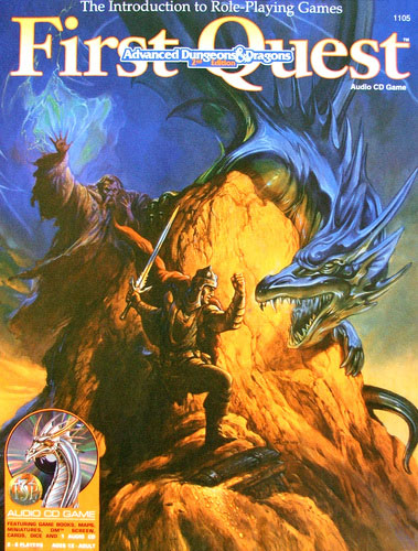 Dungeons and Dragons 2nd ed: First Quest Audio CD Game - Used