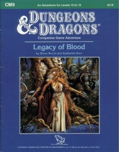 Dungeons and Dragons 1st ed: Legacy of Blood: Module CM9 - Used