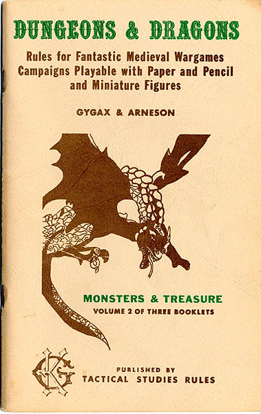 Dungeons and Dragons: Monsters and Treasure: Volume 2 of Three Booklets (1-4 printings)  - Used