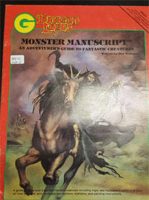 Dracon Lords: Monster Manuscript: An Adventure's Guide to Fantastic Creatures - USED