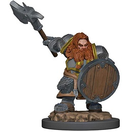 Dungeons and Dragons Fantasy Miniatures: Icons of the Realms Premium Figure: Dwarf Male Fighter