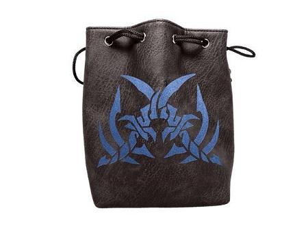 Black Leather Lite Dice Bag: Assassins Blades