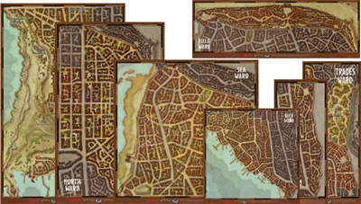 Dungeons and Dragons 5th Ed: Waterdeep: Wards Map Set