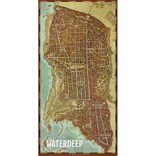 Dungeons and Dragons 5th Ed: Waterdeep: City Map
