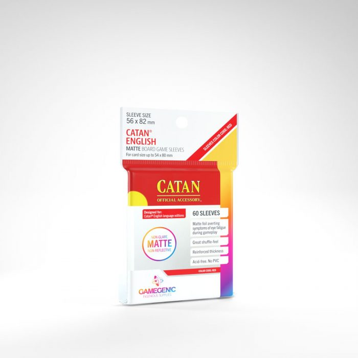 Board Game Sleeves: Catan English Matte (60 Sleeves) (Red)
