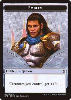 Gideon, Ally of Zendikar Emblem Token