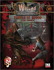 D20: Wick Fantasy Factory: Temple of Blood Role Playing - USED