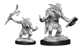 Magic The Gathering Unpainted Miniatures Wave 13: Goblin Guide and Goblin Bushwhacker