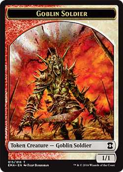 Goblin Soldier Token - Multi-Color - 1/1