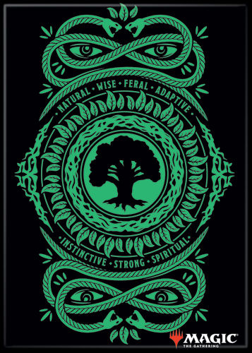 Magic the Gathering Magnet 2.5 X 3.5: Green Mana Symbol