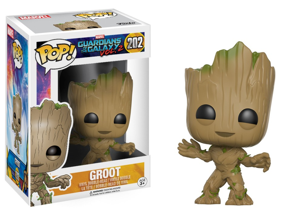 Funko POP: Guardians of the Galaxy Vol. 2: Groot 202- Used