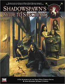 D20: Thieves' World Campaign Setting: Shadowspawn's Guide to Sanctuary HC - USED
