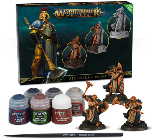 Warhammer: Age of Sigmar: Easy to Build: Stormcast Eternals and Paintset 60-10-60
