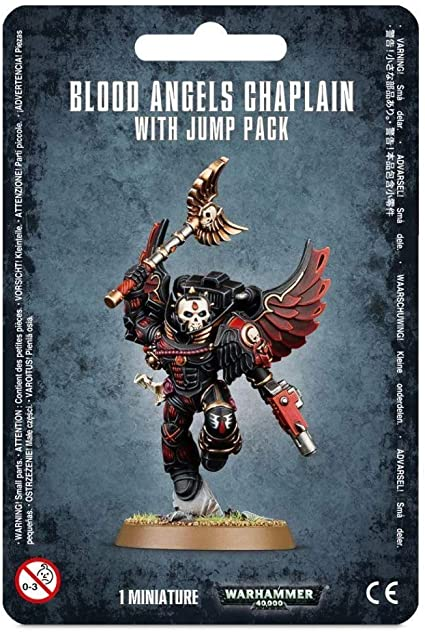 Warhammer 40k: Blood Angels Chaplain with Jump Pack 41-17
