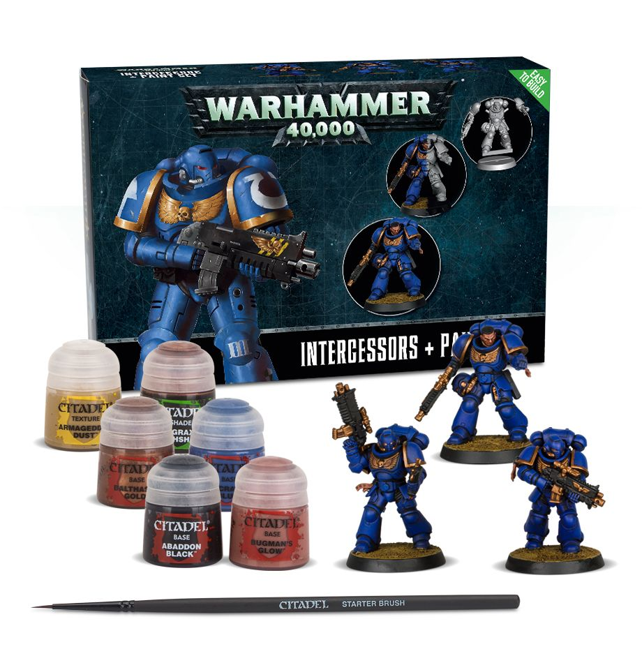 Warhammer 40K: Easy to Build: Intercessors and Paint Set 60-11-60