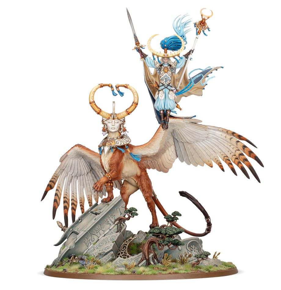 Warhammer Age of Sigmar: Lumineth Realm-Lords: Archmage Teclis and Celennar 87-53