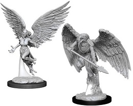 Dungeons and Dragons: Nolzur's Marvelous Unpainted Miniatures Wave 11: Harpy and Aarakocra