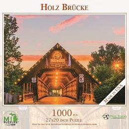 Holz Brucke (Frankenmuth Wooden Bridge) Puzzle (1000 Pieces)