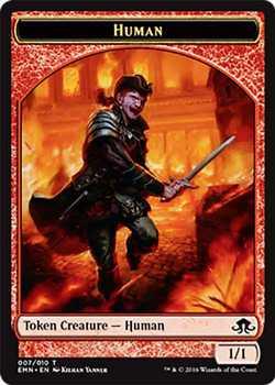 Human Token - Red - 1/1