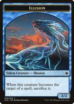 Illusion Token (Ixalan) - Blue - 2/2