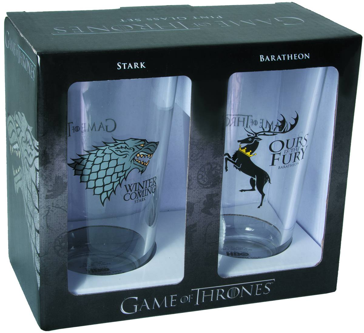 Game of Thrones: Stark and Baratheon Pint Glass Set