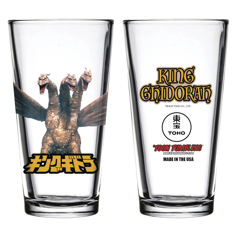 Toon Tumblers: Godzilla: King Ghidorah Pint Glass