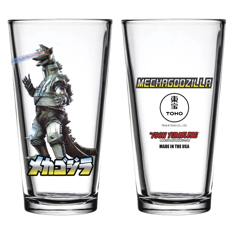 Toon Tumblers: Godzilla: Mechagodzilla Pint Glass