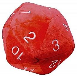 Jumbo D20 Novelty Dice Plush in Red