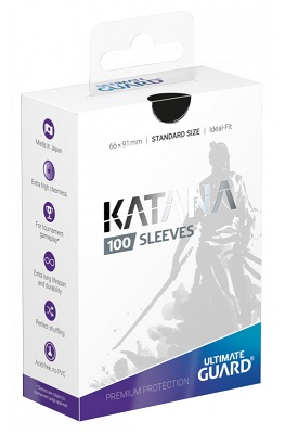 Ultimate Guard Katana Sleeves: Standard Size: Black (100)